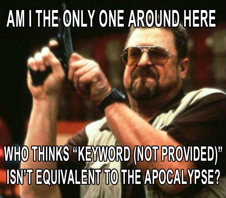 """La fin du monde avec le google """"not provided""""?"""
